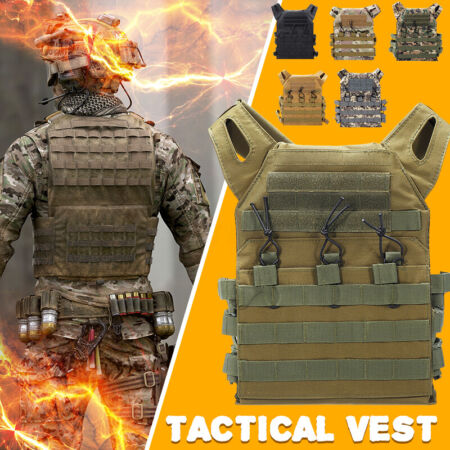 img-Tactical Vest Military Airsoft Molle Combat Army Plate Carrier Adjustable
