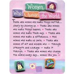 Miniature Easel Print with Magnet: Women Who Change the World, 3.6'' x 4.9