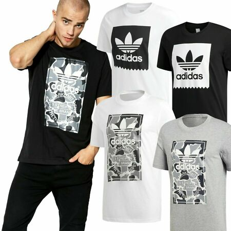 img-✅Adidas Originals Camo & Solid Serrated Trefoil Men's Gym Sports T shirt RRP£20✅