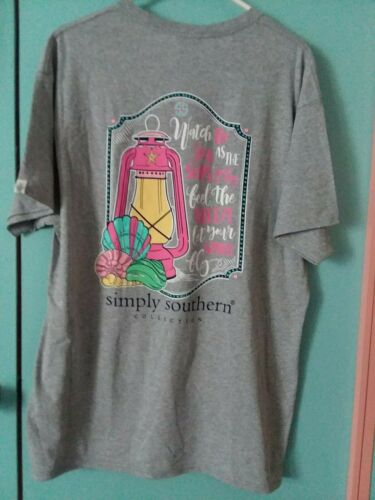 NWT Simply Southern Short Sleeve XXL T Shirt Women's Watch The Sea Large 2XL