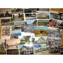 30 Vintage UNMAILED postcards, Random cards from the 1910s to '80s, Postcrossing
