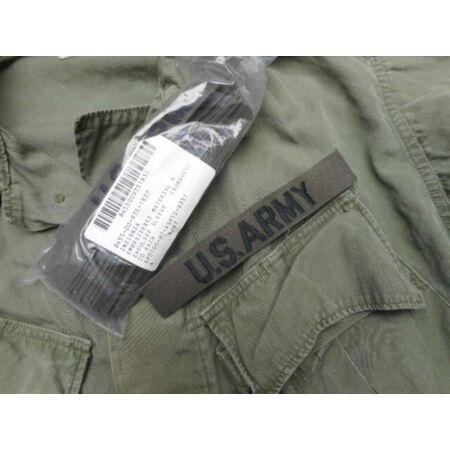 img-GENUINE US ARMY ISSUE branch tape PATCH BADGE og green webbing NEW vietnam war