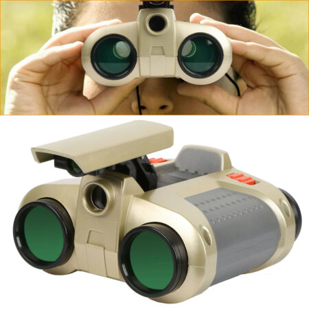 img-4X30 Kids Toy Night Vision Binoculars with Pop-Up LED Light Portable Neck Strap