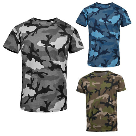 img-SOL'S MENS SHORT SLEEVE CAMO CAMOUFLAGE T-SHIRT 01188