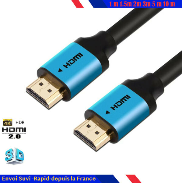 Premium Câble HDMI v2.0 0.5M/1M/1.5M/2M-10M HIGH SPEED 4K UltraHD 2160p 3D HDR