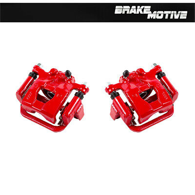 Rear Red Powder Coated Brake Calipers Pair For NISSAN ALTIMA MAXIMA