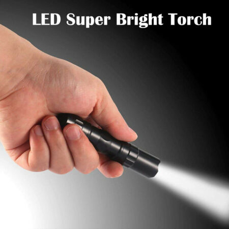img-Outdoor LED Flashlight Military Grade Torch Small Super Bright Handheld Light