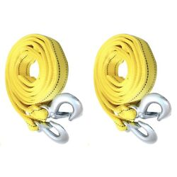 Kyпить 2 pack 3 Tons Car Tow Cable Towing Strap Rope With 2 Hooks Emergency Heavy Duty на еВаy.соm