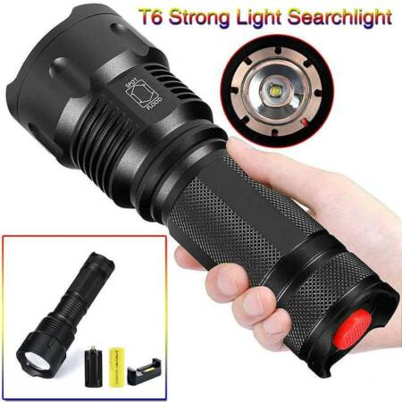 img-USB Rechargeable Flashlight LED Tactical Work light Torch Lamp