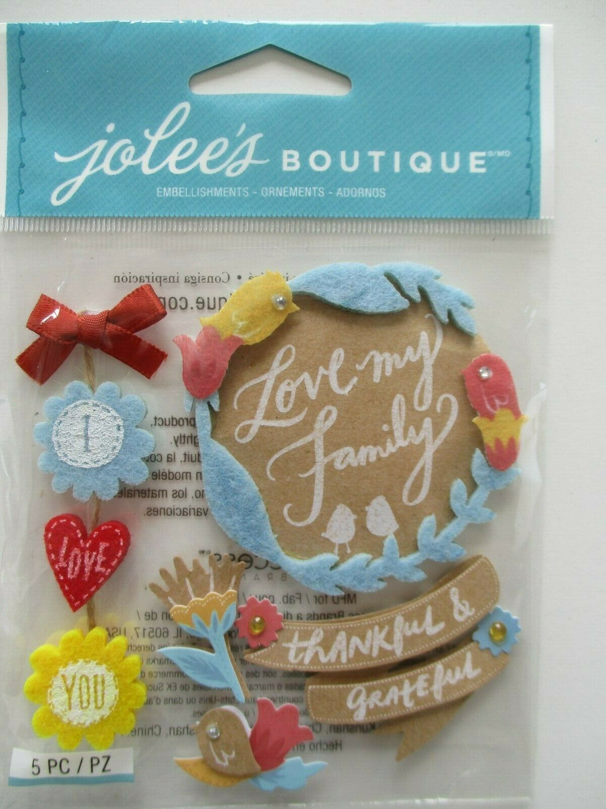 Jolee/'s Boutique Dimensional Stickers Baby Girl 015586812701