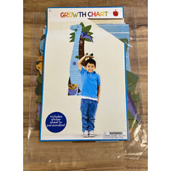 Dinosaur Wall Hanging Growth Chart For Kid s Bedroom w/Stickers-C9