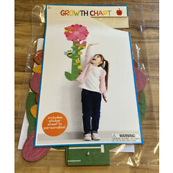 Flower Wall Hanging Growth Chart For Kid s Bedroom w/Stickers-C9