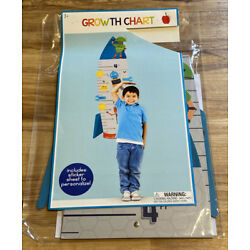 Rocket Wall Hanging Growth Chart For Kid s Bedroom w/Stickers-C9