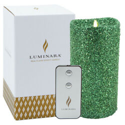 "Kyпить Luminara 7"" Flameless Candle Pillar Glitter LED Light Real Flame Effect Remote на еВаy.соm"
