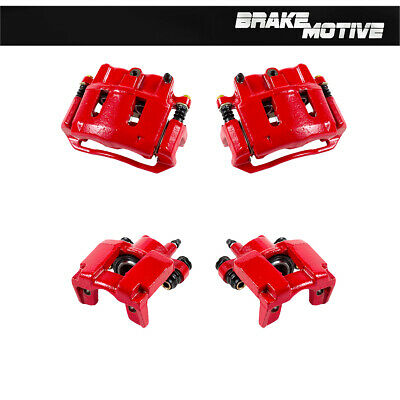 Front + Rear Red Coated Brake Calipers For Ford Explorer Ranger Mountaineer