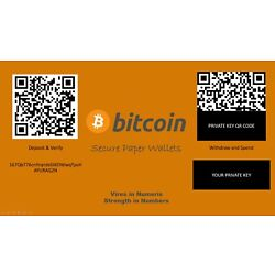 Kyпить Bitcoin Paper Wallet. Secure Offline Cryptocurrency Storage for BTC, BCH, BSV на еВаy.соm