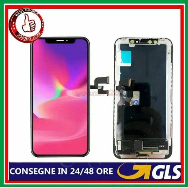 TOUCH SCREEN LCD DISPLAY APPLE IPHONE XS VETRO FRAME OLED SCHERMO ORIGINALE XS