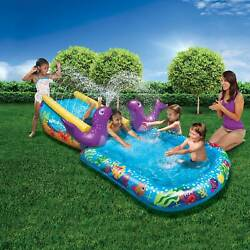 Kyпить Banzai Kid Toddler Outdoor Inflatable My First Water Slide and Splash Pool  на еВаy.соm
