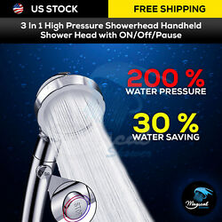 Kyпить 3 In 1 High Pressure Shower Head Handheld Shower Head with ON/Off/Pause на еВаy.соm