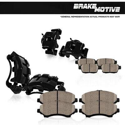 For 2012 CHRYSLER 300 DODGE CHALLENGER CHARGER Front+Rear Brake Calipers & Pads
