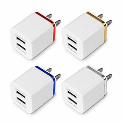 3x Dual USB Charging Cube Wall Charger  Power Adapter For iPhone Samsung Android