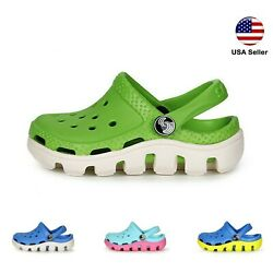 Kyпить Kids L Croc Style Clogs Boys Girls Toddler Big Kid Garden Slip On Shoe LUXHSTORE на еВаy.соm