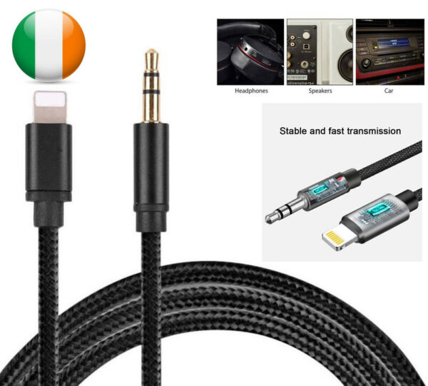 Lightning A 3.5mm Aux Audio Cavo Auto Adattatore Per IPHONE 11 XR 7 8 6S Plus X