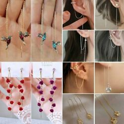 Kyпить Hummingbird Earrings Stud Threader Long Drop Tassel Crystal Dangle Wholesale Hot на еВаy.соm