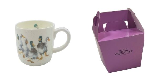 Royaume-UniEmballé Wrendale Licence Official Canards Quackers  Fine Chine Tasse