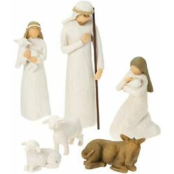 Kyпить Willow Tree hand-painted sculpted figures, Nativity, 6-piece set NEW IN BOX на еВаy.соm