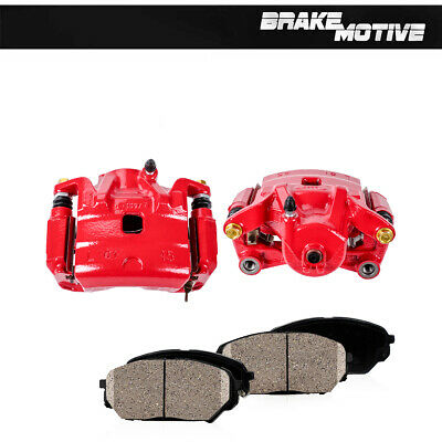 Front Powder Coated Brake Calipers & Ceramic Pads For 2007 - 2010 Nissan Altima