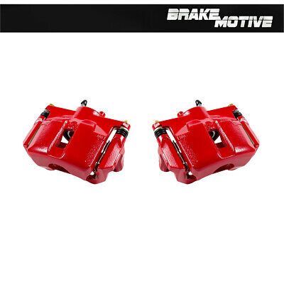 Front Red Coated Brake Caliper Pair For 2009 2010 2011 2012 2013 2014 Maxima