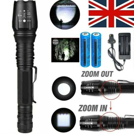 img-Super Bright 990000LM LED Flashlight Rechargeable 18650 Military Zoom Torch Lamp