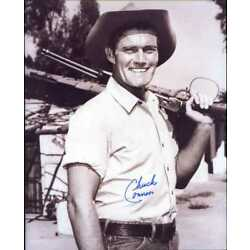 Kyпить Chuck Connors (D.) signed 8x10 photo as RIFLEMAN -Brooklyn Dodger & Cubs (#1) на еВаy.соm