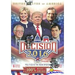 Kyпить 2016 Decision Political Trading Cards Blaster Box-Donald Trump, Clinton, Obama++ на еВаy.соm