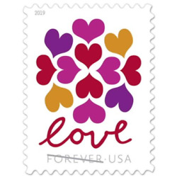 Kyпить 100 USPS (5 Panes OF 20) Forever Love Hearts Blossom Stamps First Class Postage на еВаy.соm
