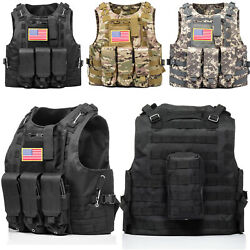 Kyпить HUNTVP Military Tactical Vest Molle Combat Assault Plate Carrier w/ without Flag на еВаy.соm