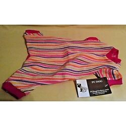 DOG OUTFIT NEW TAGS XS EXTRA SMALL PC SMALL DOG CLOTHING PINK STRIPED JUMPER.