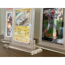 Kyпить ACRYLIC PSA GRADED CARD HOLDER STAND DISPLAY * PERFECT FIT * Sports Pokemon на еВаy.соm