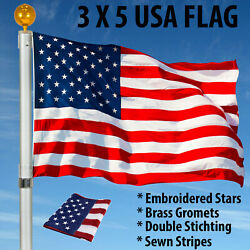 Kyпить 3'X5' ft American Flag US USA | EMBROIDERED Stars| Sewn Stripes| Brass Grommets на еВаy.соm
