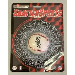 RICO Shatter Sports Static Cling Baseball Broken Window Decal Chicago White Sox