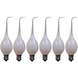 Kyпить 6-Pack, Silicone Dipped Candle Light Bulbs, 7 Watt, Longer Life Country Style на еВаy.соm
