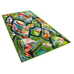 Kyпить Kids Car Rug - Town Road Map Carpet Playmat - 60