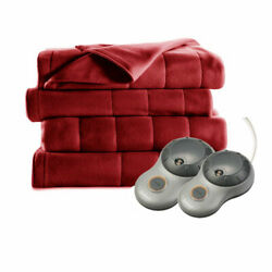 Kyпить Sunbeam Heated Electric Blanket Royal Dreams Quilted Fleece Queen Garnet на еВаy.соm