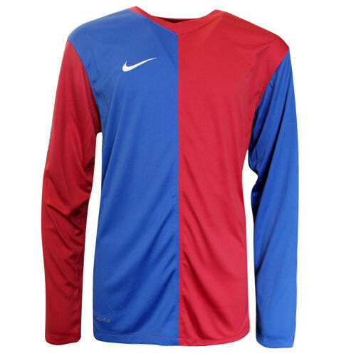Royaume-UniNike Long Sleeved Football Pull Over T-Shirt Top Kids Blue Red 361132 425 DD74