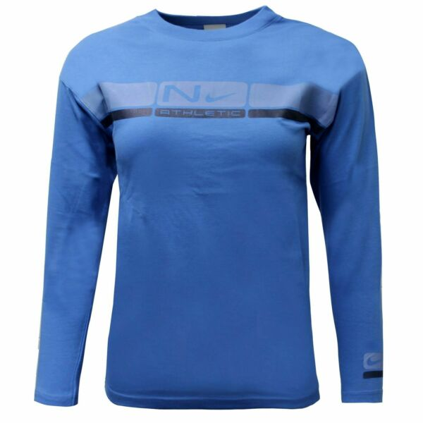 Royaume-UniNike Boys Long Sleeved Top Casual Athletic T-Shirt Blue 422626 431