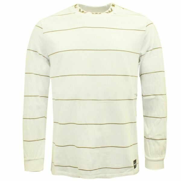 Royaume-UniSupra Mens Banded Long Sleeved Crew T-Shirt Casual Top White 102087 115 A38A