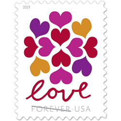 Kyпить 100 USPS Forever Stamps Hearts Blossom Love (5 sheet of 20) на еВаy.соm