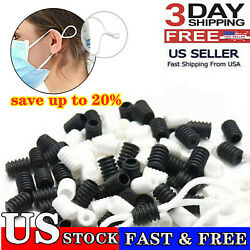Kyпить 200 Mixed Cord Locks For face Mask Adjuster Elastic Band Stopper Fastener Sewing на еВаy.соm