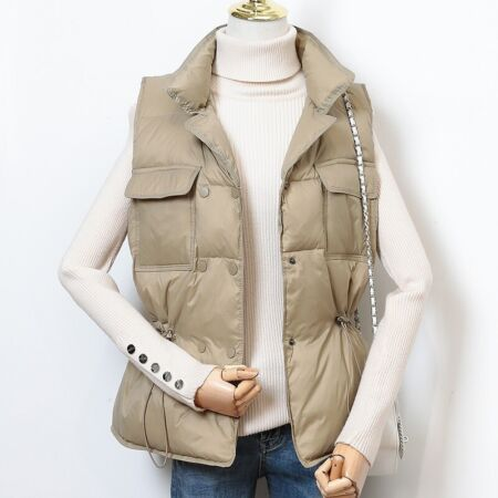 img-Lady Duck Down Waistcoat Puffer Vest Padded Quilted Jacket Coat Sleeveless Warm